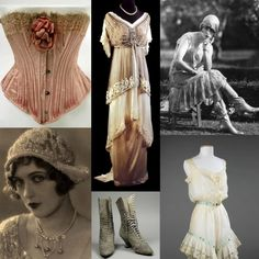 Vintage clothing and accessories.