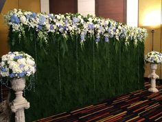 Flowers wall, wedding party- reception