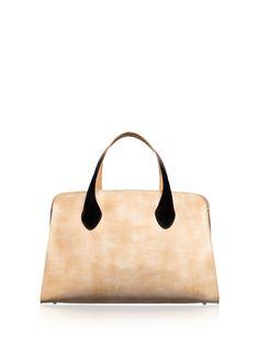 Marni simple and chic black and white contrast handbag