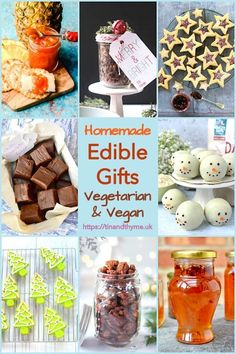 Want to try your hand at making some homemade edible gifts this year? Or maybe you're an old hand looking for new ideas for festive fun. Look no further, here are nearly fifty sweet and savoury vegan and vegetarian recipes for Christmas and beyond. It's an advent extravaganza. #TinandThyme #EdibleGifts #HomemadeGifts #HolidayGifts #DoItYourself Homemade Tea, Homemade Vanilla, Homemade Gifts, Christmas Desserts, Christmas Baking, Holiday Baking, Christmas Gifts, Xmas, Edible Food