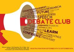 Debate Club Poster for Alexander Bain School, Mexico on Behance