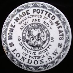 Victorian ARMY / NAVY Potted Meats Pot Lid 1880