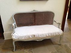 Rachel Ashwell Shabby Chic French Style Cane Back couch sofa Settee