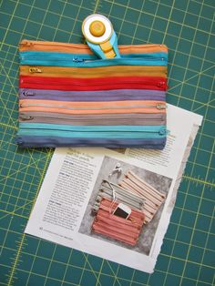 Thrift-Shop-Inspired Zip Pouch by Andrea Quilts