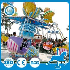 China 2016 exciting amusement park new product rotating happy romantic jellyfish rides