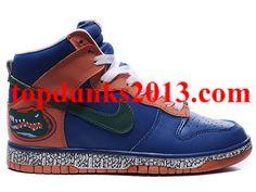 Famous Custom Blue Crocodile Pattern High Top Nike Dunk Premium Quality