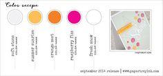 PTI-color-recipe-Sep 2014 (soft stone, summer sunrise, orange zest, raspberry fizz, fresh snow)