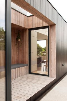 Image 5 of 20 from gallery of Charcoal House / Yellow Cloud Studio. Courtesy of Yellow Cloud Studio Larch Cladding, House Cladding, Exterior Cladding, Charcoal House, Yellow Cloud, Timber Architecture, Bright Kitchens, House Extensions, Cottage