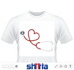 Great design for the nurse or doctor, This design on any merchandise will make a great gift.  Choose this design for the newly graduate!!