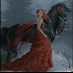 Nene Thomas Echoes Autumn Limited Edition Signed Fairy Print Horse Faery Red New 3d Fantasy, Fantasy Artwork, Fantasy World, Fairy Pictures, Fantasy Pictures, Gothic Pictures, Magical Pictures, Mermaid Pictures, Magical Creatures