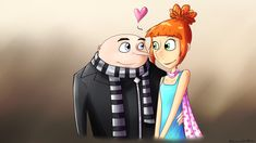 DeviantArt: More Like Gru x Lucy by VanessaGiratina Gru And Lucy, All Animated Movies, Illumination Entertainment, Princess Toadstool, Phineas And Ferb, Universal Pictures, Super Smash Bros, Disney Animation, Despicable Me