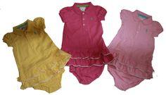 NWT Ralph Lauren Baby Girls Rickrack Polo Dress & Panty Set Short Sleeves Cotton #RalphLauren #Everyday