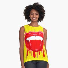 Vampire lips on shirts for women! Women's Shirts, Chiffon Tops, Classic T Shirts, Lips, Chemises