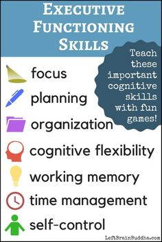 10 Fun Activities That Teach Executive Functioning to Kids and Teens - Left Brain Buddha Source by Activities For Adults, Therapy Activities, Fun Activities, Elderly Activities, Dementia Activities, Therapy Ideas, Kindergarten Activities, Physical Activities, Social Emotional Learning