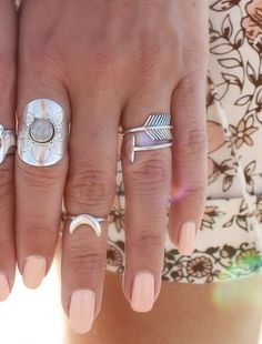 crescent moon knuckle ring