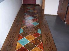 Painting Indoors Cement Floor | Concrete Floors - Wapakoneta, OH - Photo Gallery - Ohio Concrete