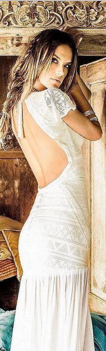 Who made Alessandra Ambrosio's white lace maxi dress?