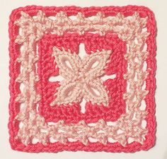 """6"""" Forever Lace Block by Donna Kay Lacey. Free Crochet pattern"""