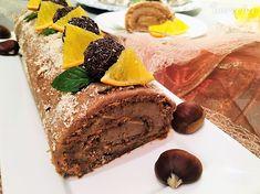 Jemná a voňavá perníková roláda s gaštanovým krémom - recept | Varecha.sk Tiramisu, Food And Drink, Ethnic Recipes, Basket, Tiramisu Cake
