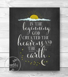 Bible verse print Genesis 11 Scripture Christian wall by SpoonLily, $15.00