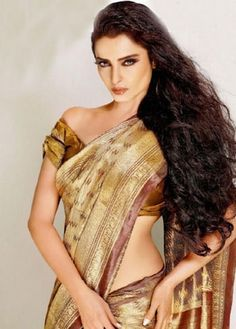 Rekha in her pre-Kancheevaram days: by popular consensus Bollywood's best saree wearer.