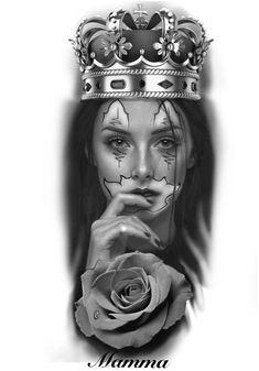 Chicano Drawings, Chicano Art, Realistic Tattoo Sleeve, Custom Tattoo, Black And Grey Tattoos, Traditional Tattoo, Blackwork, Sleeve Tattoos, Tattoo Designs