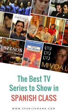 Spanish TV Shows to Use in Class. Here's a mix of authentic and learner shows that work well for teachers and students. #learnspanish #spanishTV #Netflix