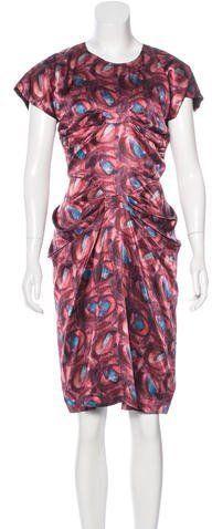 L'Wren Scott Abstract Print Knee-Length Dress