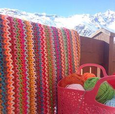 Ak at home    : crochet * deken Zigzag