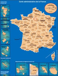 Carte Administrative de la France