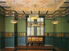 William Morris room (British artist, textile designer and poet) Victoria and Albert Museum, London.
