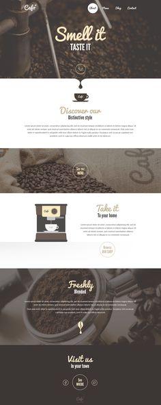 Smell it – Coffee Shop Landingpage Idea. on Inspirationde
