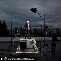 Image by @davehamiltonphotography Frank Palmer from DDB. Shot for Vancouver View mag. #Vancouver #davehamiltonphotography #bts #sb800 #vancitybuzz