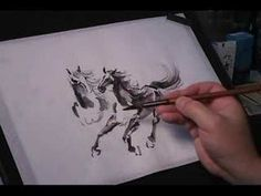 Racing Horses - Traditional Chinese Brush Painting