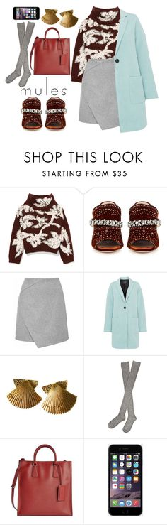 """Sin título #1323"" by meelstyle ❤ liked on Polyvore featuring Brunello Cucinelli, Miu Miu, Armani Jeans, Hansel from Basel, Prada, Trendy, mules and woman"