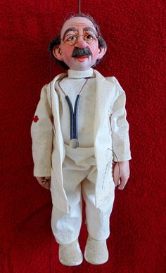GlaxoWellcome Advertising Promotional Doctor String Puppet RARE