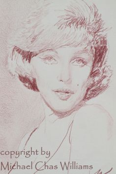 Original Contesque Pencil 5x7 Study sketch Drawing of Marilyn Monroe by Michael Chas Williams  | This image first pinned to Marilyn Monroe Art board, here: http://pinterest.com/fairbanksgrafix/marilyn-monroe-art/ || #Art #MarilynMonroe