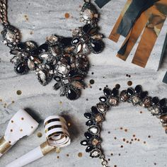 Bring in the new year in style with these gorgeous statement necklaces. Chloe & Isabel , Midnight Palace Collection.