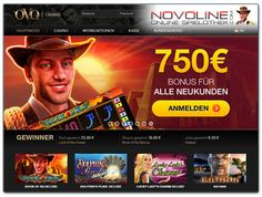 Wenn es mal nicht das StarGames oder Quasar Gaming Casino für Deine Novoline Bedürfnisse sein soll, steht das OVO Casino als solide Alternative zur Auswahl - einen 750€ Willkommensbonus inklusive.  http://www.novolineonlinespielothek.com/novoline-casinos/ovo-casino-test/