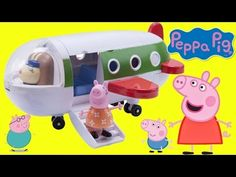 Nick Jr. PEPPA PIG's Holiday Plane Playset Travel Toy Hunting, Surprises Mickey Minnie Mouse, / TUYC - YouTube