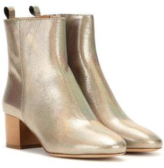 Isabel Marant étoile Drew Metallic Leather Ankle Boots