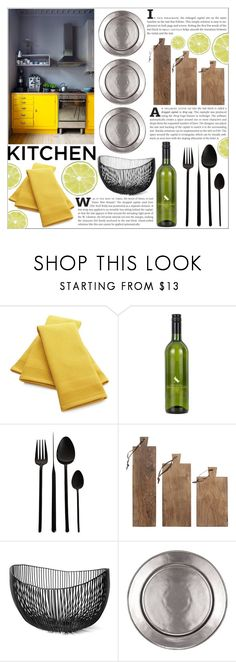 """""""Dream Kitchen"""" by katerin4e-d ❤ liked on Polyvore featuring interior, interiors, interior design, home, home decor, interior decorating, Crate and Barrel, A by Amara, Homage and Juliska"""