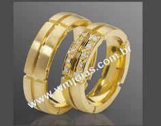 Aliança de noivado e casamento  Aliança em ouro amarelo 18k 750  http://www.wmjoias.com.br/