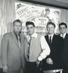 Elvis' hump party in Germany: Half way through his time in the service (with Vernon, Red, and Lamar...first members of the MEMPHIS MAFIA)