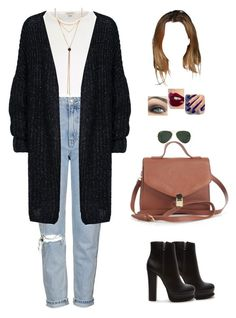 """""""Untitled #1024"""" by sophloveshaz ❤ liked on Polyvore featuring Topshop, River Island, Forever 21, Ray-Ban, Charlotte Tilbury and Lottie"""