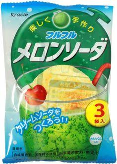 Furu Furu Melon Soda Powder $1.50 http://thingsfromjapan.net/furu-furu-melon-soda-powder/ #Japanese drink #Japanese snack #Japanese melon soda