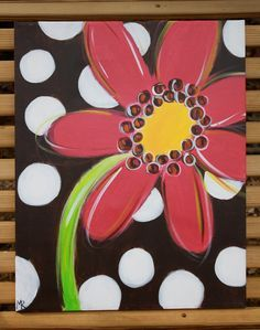 Polka Dot Daisy. $36.00, via Etsy.