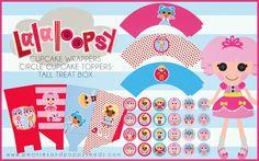Mini Kit de Lalaloopsy para Imprimir Gratis.