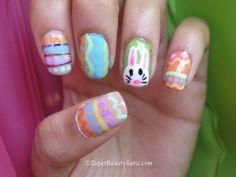 Easter / Spring Nails, Bunny Nails, Easter Nail Art, Easter Nail Designs #2014 #easter #bunny #nails www.loveitsomuch.com