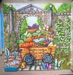 """166 Likes, 17 Comments - Atkah Yahya (@int_kti) on Instagram: """"Romantic Country 3rd Tale by @eriy06 #romanticcountrycoloringbook #mycreativeescape #mySTAEDTLER…"""""""